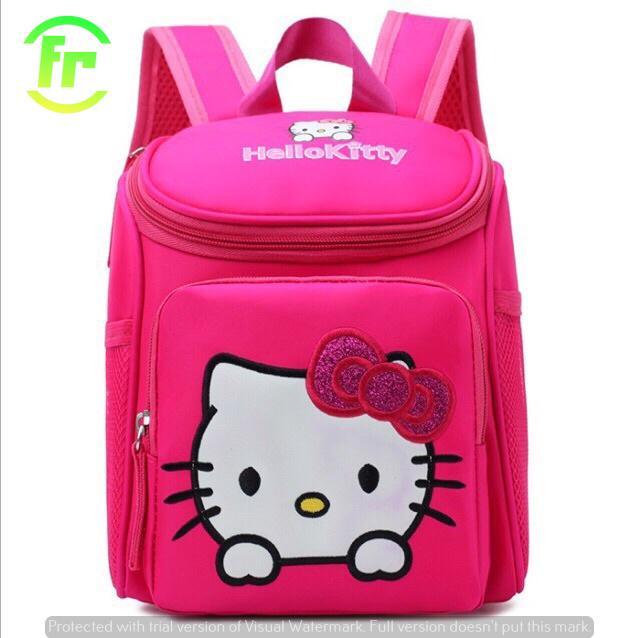 Giá bán Balo Trẻ Em Dễ Thương Hình Kitty cho bé nữ (chống gù lưng) - Balo Frado