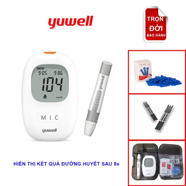 [[Tặng kèm kim+ que thử đường huyết]] Máy đo đường huyết/ tiểu đường Yuwell Accusure 710 (Model mới) bán chạy