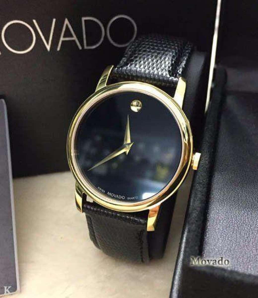 Nơi bán (Locdongho Sỉ & Lẻ, Rado, Longbo) Đồng hồ NAM MO05 vàng, mặt kính Saphire, chống nước 3M, Vỏ đồng hồ thép không gỉ, Bảo hành 6 tháng, tặng 2 pin thay thế MOVADO.SAPHIRE