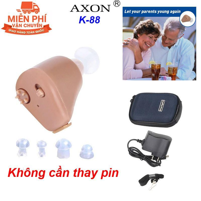 Sản Phẩm Được Các Bác Sỹ Khuyên Dùng - Máy Trợ Thính Cho Người Già, Người Khiếm Thính AXON K88 - Máy trợ thính không dây sử dụng pin sạc Axon K88 - Món Quà Tuyệt Vời Cho Người Thân cao cấp