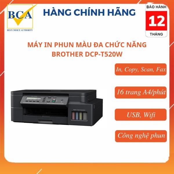 Máy in phun màu đa chức năng Brother DCP-T520W (In, Copy, Scan, Wifi)