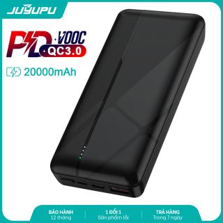 [HCM]Sạc dự phòng JUYUPU PQ2C cao cấp 20000mAh sạc nhanh PD QC3.0 22.5W chính hãng dành cho iPhone Samsung OPPO VIVO HUAWEI XIAOMI pin sạc dự phòng thumbnail