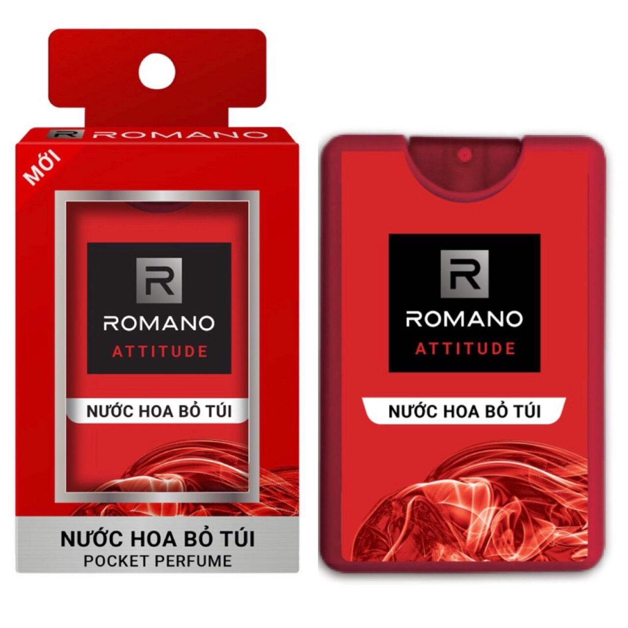 Nước hoa bỏ túi Romano chai 18ml (250 lần sử dụng) - đỏ nhập khẩu