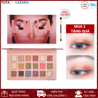 TUTA - Bảng phấn mắt nhũ kim tuyến 18 ô Lameila lấp lánh, Phấn mắt trang điểm hot trend siêu xinh PHAN-MAT-18O thumbnail