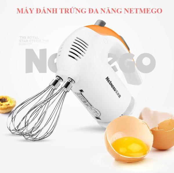 Máy đánh trứng cầm tay, máy đánh trứng mini. Máy đánh trứng cầm tay Netmego N38D công suất 300w - 5 Cấp Độ - Vận Hành Êm Ái - Hàng Chính Hãng. Bảo hành Uy Tín.