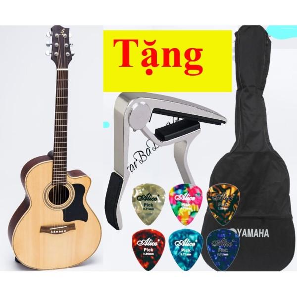 Guitar acoustic full gỗ thịt, khóa đúc bảo hành 12 tháng J130 BA ĐỜN