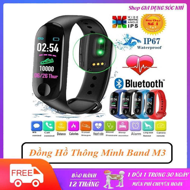 Giá Vòng đeo tay theo dõi sức khỏe band M3 đo nhịp tim huyết áp , đồng hồ thông minh m3, Đồng hồ theo dõi sức khỏe,vòng theo dõi sức khỏe M3 chất như miband 3,4