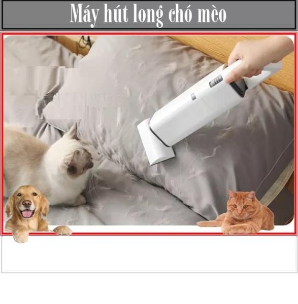 Máy hút lông chó mèo thú cưng không dây-máy hút bụi mini (BH 6 tháng) làm sạch xe hơi 3 đầu hút