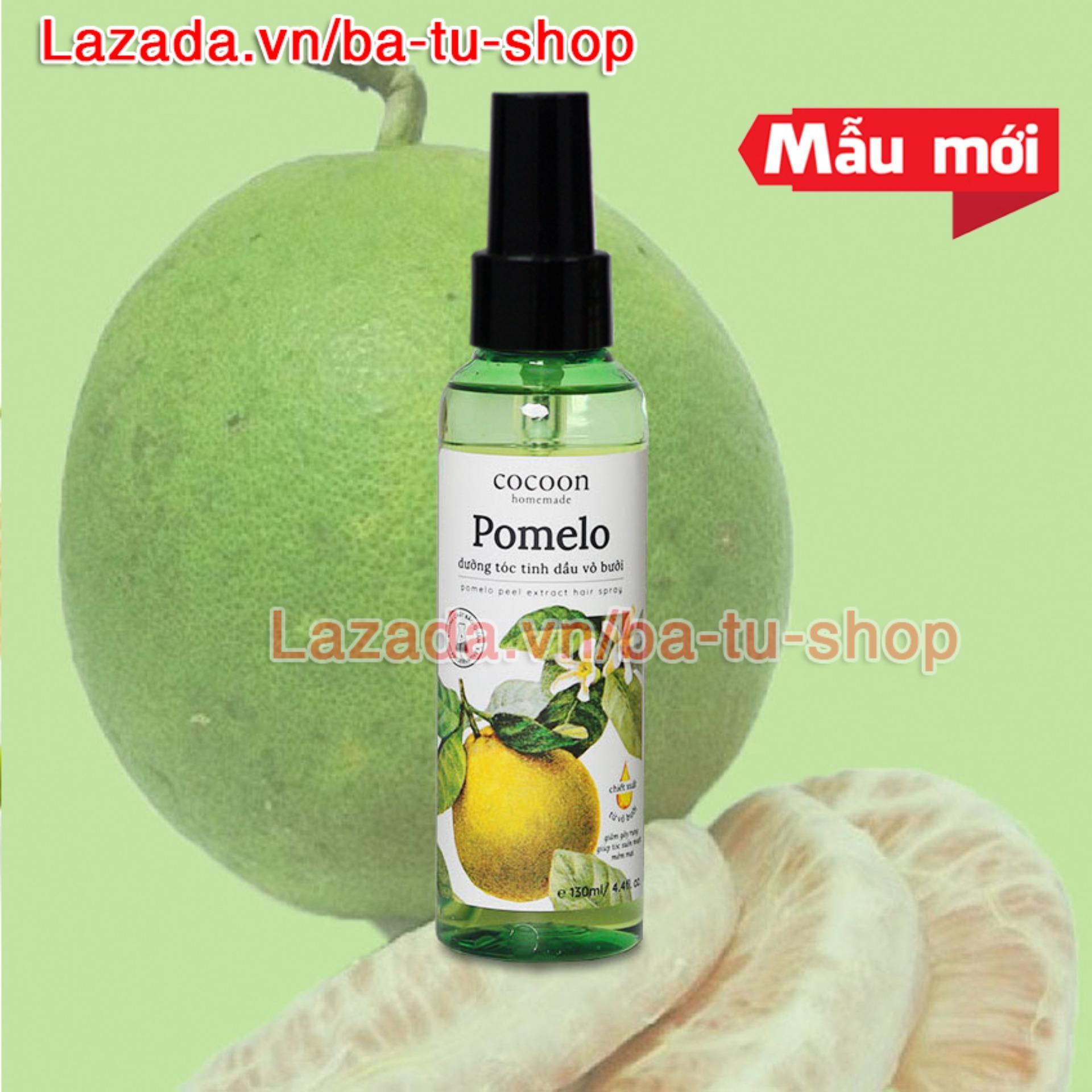 Xịt tóc tinh dầu vỏ bưởi trị rụng tóc Pomelo Cocoon 130ml nhập khẩu