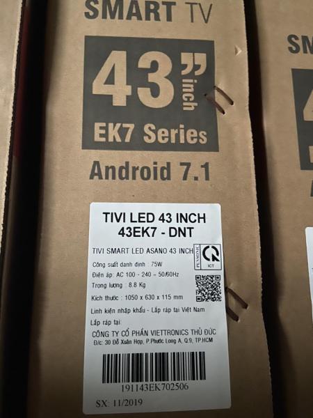 Bảng giá TIVI SMART LED ASANO 43