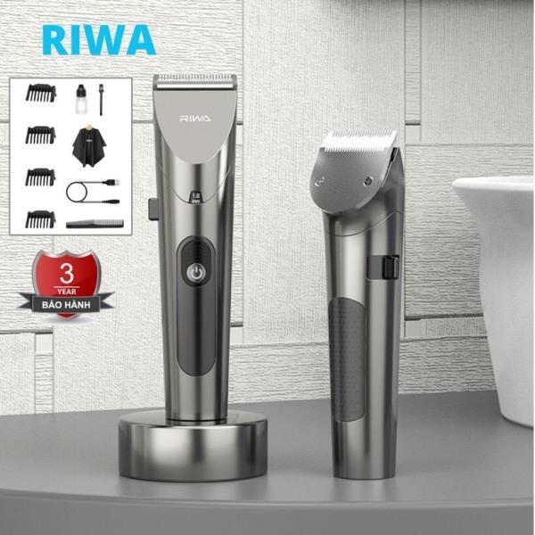 Tông đơ cắt tóc Riwa 6305 chuyên nghiệp cho người lớn trẻ em, Tặng kèm 10 món