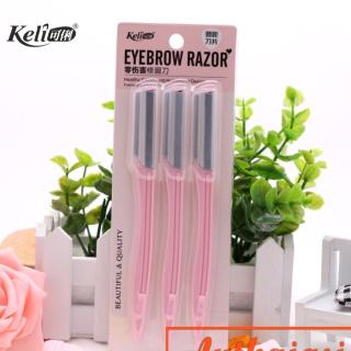 Set 3 Dao cạo mày Keli Eyebrow Razor No.7644 thumbnail