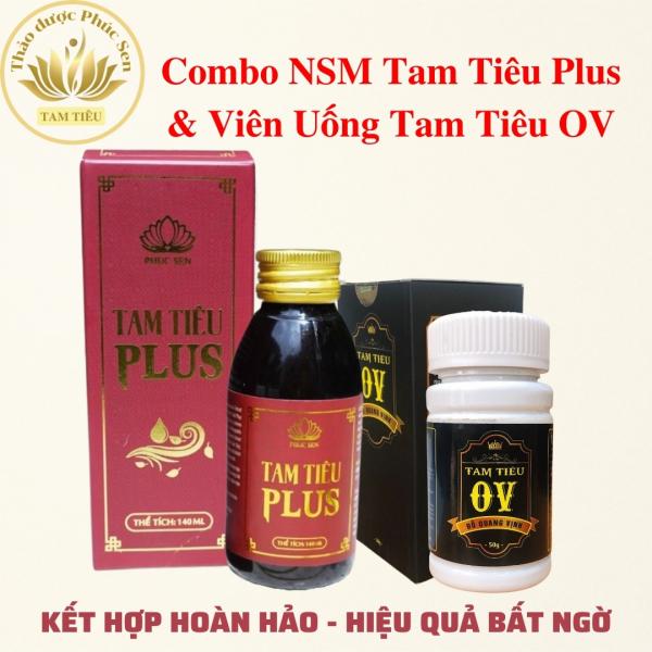 Combo Nước Xúc Miệng Tam Tiêu Plus Và Viên Tam Tiêu OV - Thơm Miệng, Khử Mùi, An Toàn Hiệu Quả Cao giá rẻ