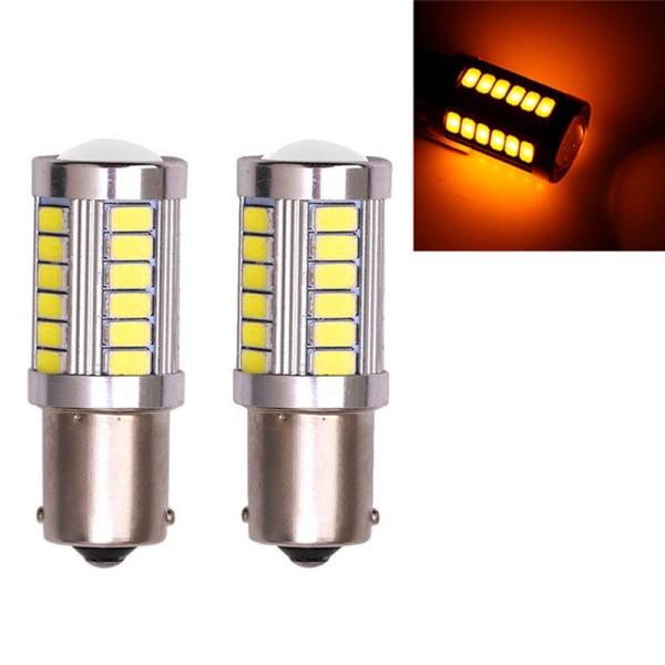 Bộ 02 Bóng Đèn Xi Nhan, Đèn Lùi, Đèn Phanh Siêu Sáng Cho Ô Tô Xe Hơi - 1156 1 Tóc 2.5W 33 Tim LED Lớn