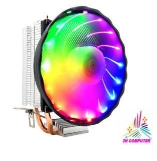 Quạt tản nhiệt cpu quạt cpu led quạt cpu rgb Quạt CPU đa năng dùng cho socket 775 1155 1156 AMD -Tản Nhiệt Khí Cool Storm CT-2U LED 7 MÀU - Hỗ Trợ All CPU thumbnail