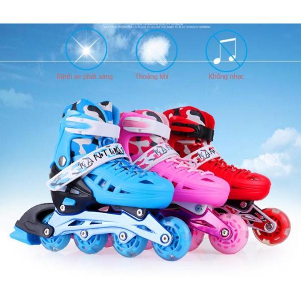 Mua Giày patin cho trẻ - Giày trượt patin trẻ em - Giày patin cho bé- Thể thao ngoài trời, hoạt động ngoài trời - Dành cho trẻ từ 3-15 tuổi - Tặng Bộ Bảo Hộ An Toàn Cho Bé