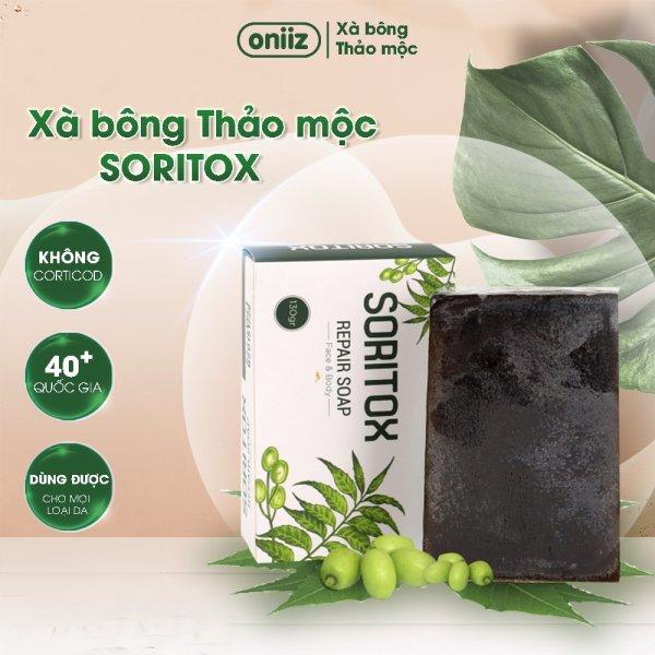 Xà phòng thảo dược Soritox Soap 130GR - Chăm sóc da, mờ thâm, sạch mụn Handmade