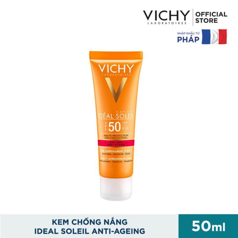 Kem chống nắng bảo vệ và giúp giảm các dấu hiệu lão hóa Ideal Soleil Anti-Age SPF50 50ml