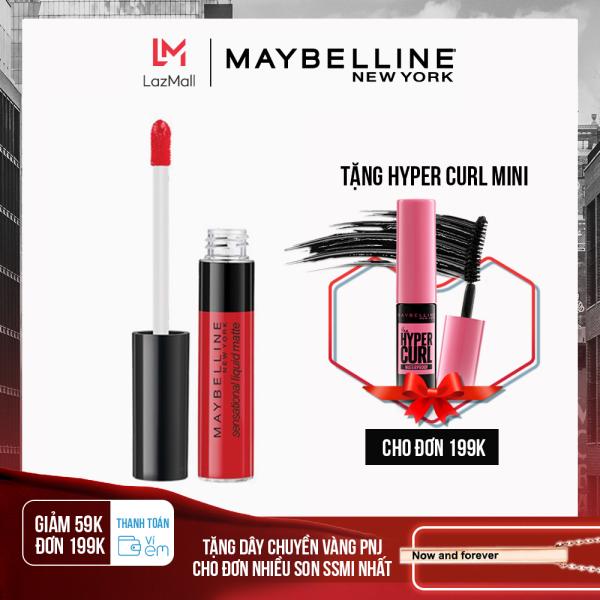 [Thanh toán ví eM giảm 39K đơn 169K] Son Kem Lì Nhẹ Môi Maybelline New York Sensational Liquid Matte Lipstick 7ml cao cấp