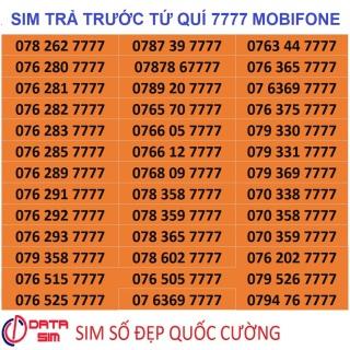 [HCM][Trả góp 0%]Sim tứ quí 7777 mobifone trả trước đồng giá thumbnail