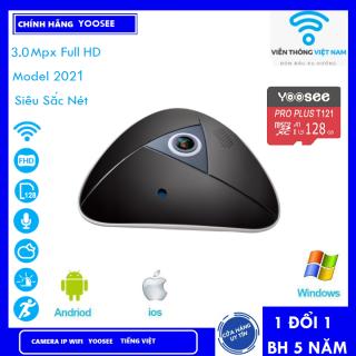 Camera Ốp Trần Camera wifi Camera Panorama 3.0Mpx Full HD 1080 , full chức năng đàm thoại , ghi âm . cảnh báo , xem đêm ... (MÃ KÈM THẺ 512K VÀ KHÔNG THẺ 415K) thumbnail