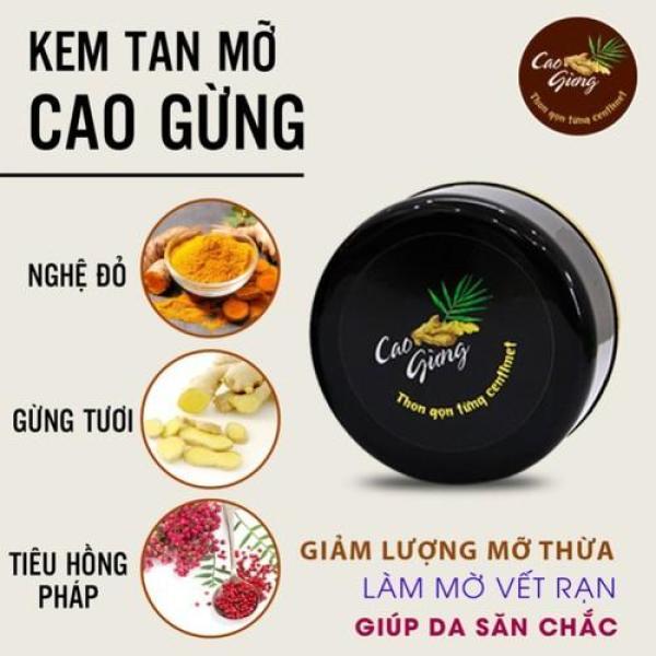 [VUA TAN MỠ] Cao Gừng Tan Mỡ Thiên Nhiên Việt - Có Tem Chống Hàng Giả