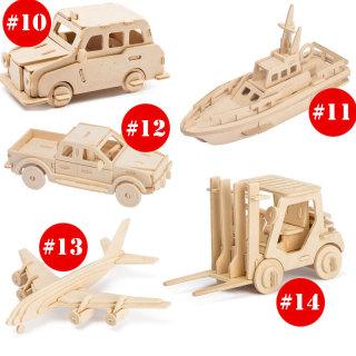Mô hình lắp ghép bằng gỗ 3D Các loại xe máy, xe oto, xe tải, máy bay , ghép theo khớp Robotime thumbnail