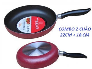 [GIÁ CỰC TỐT] Combo 2 chảo siêu chống dính 22cm và 18cm KOYFA -chảochống dính- chảo nhôm- chảo-- chảo inox - chao nha bep, chao nau an thumbnail