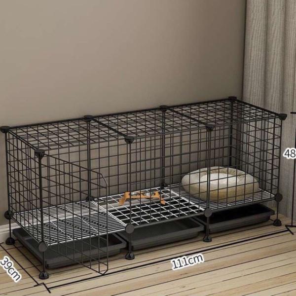 Chuồng chó mèo thiết kế lưới tĩnh điện đa năng, tiện dụng, dễ dàng lắp ráp và sử dụng ( Tặng kèm khay vệ sinh,chân đế,chốt nối và búa)