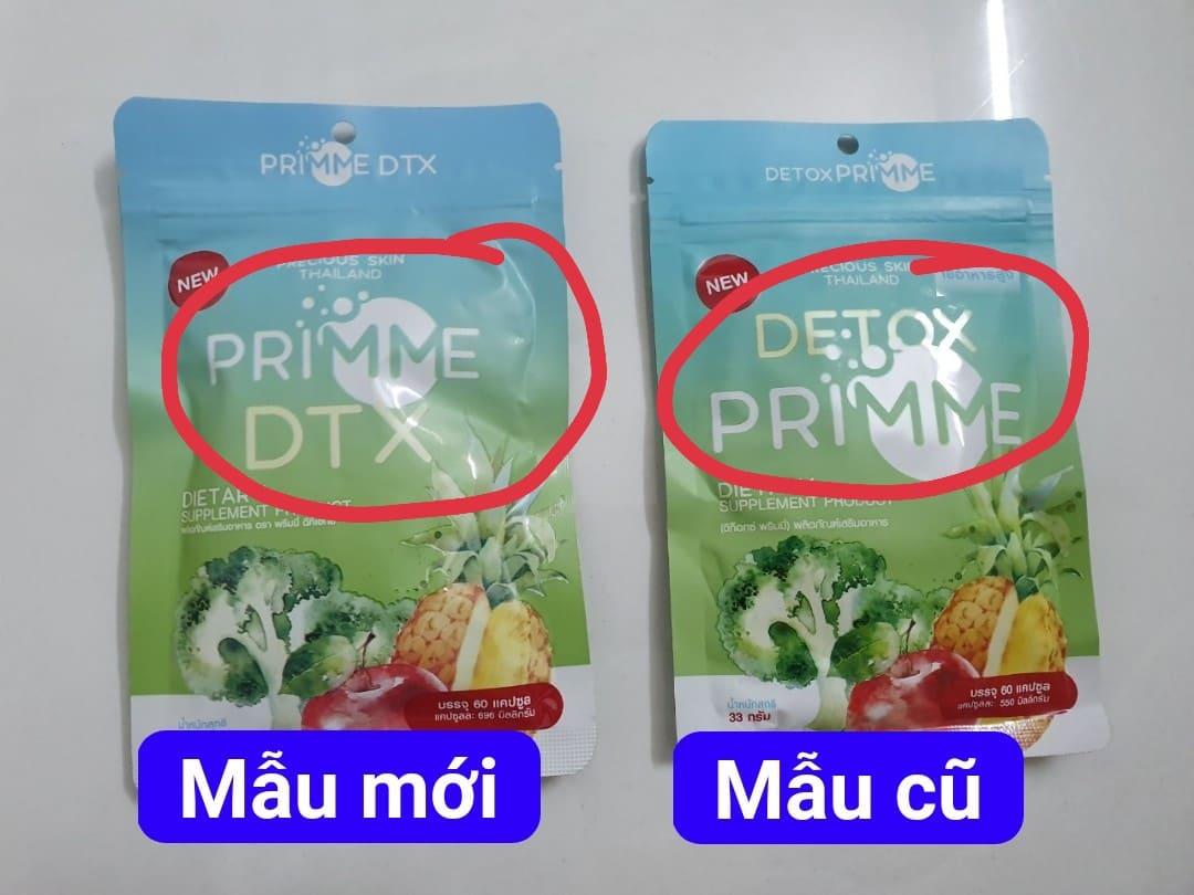 60 Viên Khử Mỡ Detox Primme DTX Thái Lan 2020 Chiết Xuất Rau Củ Giá Quá Tốt Phải Mua Ngay