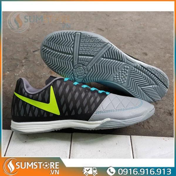 Giày Thể Thao Đá Banh Winbro Xám Đen Đế Bằng - Giày Futsal Đẹp Và Bền