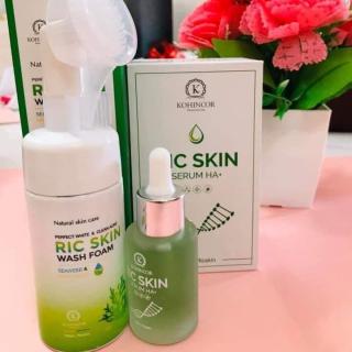 [ SIÊU SALE ] Combo Ricskin, Combo Sữa Rửa mặt Ric Skin Wash Foam & Serum Ric Skin Serum HA+ Trắng Da, Mờ Sạm Nám thumbnail