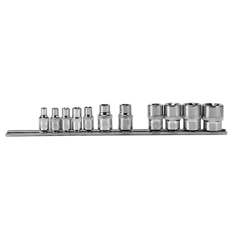 Socket Storage Rack Holder Divider 1/4 inch 3/8 inch with Hexagon Socket on Rail Store Sockets Tool Organizer Wrench Storage Rack