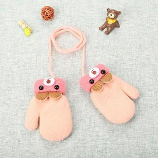 Găng tay giữ ấm bằng vải nhung hình dấu hoạt hình dễ thương cho bé từ 0-3 tuổi Babyucarea - INTL