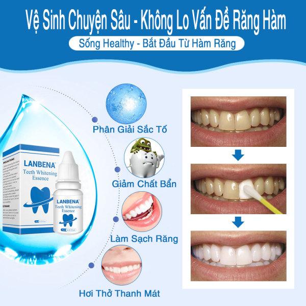 Tinh Chất Tẩy Trắng Răng Khử Mùi Hôi Làm Sạch Mảng Bám Trên Răng Gây Ố Vàng Whitening Teeth Oral Treatment
