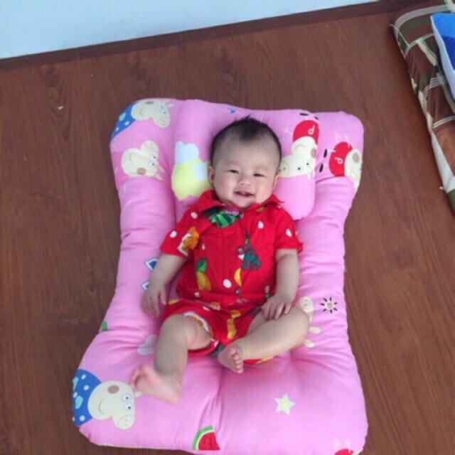 Siêu Tiết Kiệm Khi Mua Bộ Nệm Gối Cho Bé Sơ Sinh (  Ngang 57cm Dài 78cm.,Dày 10cm )