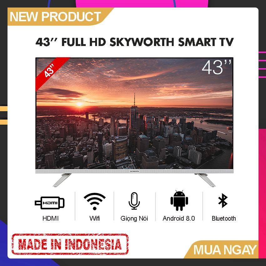 Bảng giá Smart Voice TV Skyworth 43 inch Full HD - Model 43E6 (Android 8.0, Google Assistant, Tìm kiếm giọng nói, Tích hợp DVB-T2, Wifi) - Bảo Hành 2 Năm