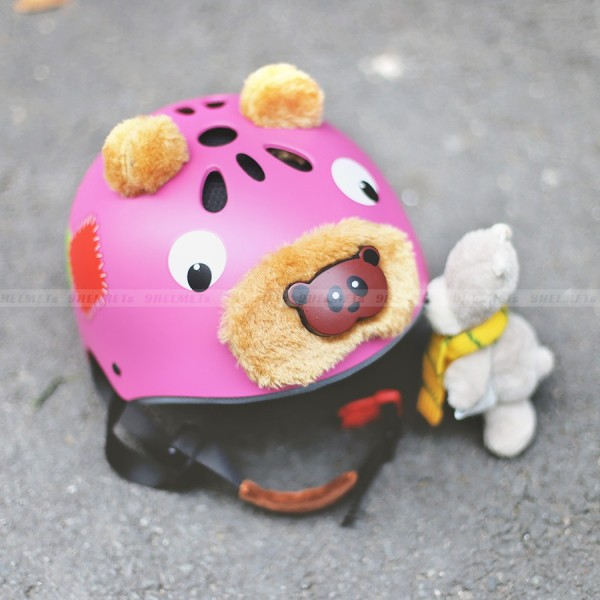 Giá bán [HCM]Mũ Bảo Hiểm Trẻ Em Gấu Đỏ
