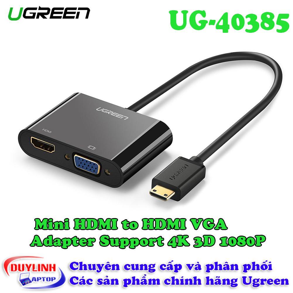 Cáp Mini HDMI sang HDMI + VGA hỗ trợ Full HD, 2K,4K Hãng UGREEN