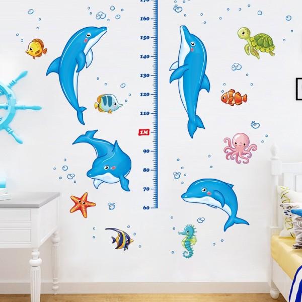 Tranh trang trí phòng cho bé THƯỚC ĐO CHIỀU CAO NHIỀU MẪU - Giấy và decal dán tường trẻ em