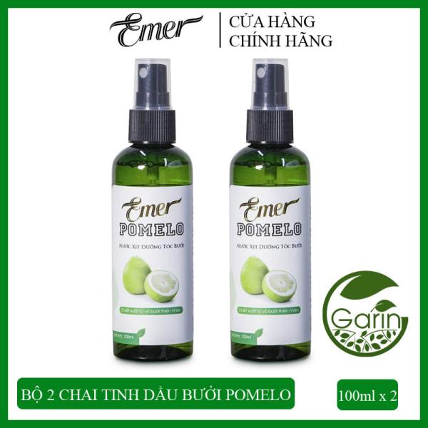 Liệu trình 1 tháng 2 chai Nước xịt dưỡng tóc tinh dầu bưởi Pomelo Emer (100ml x 2) giúp giảm rụng tóc, kích thích tóc mọc nhanh cho tóc dày và dài hơn gấp 2 đến 3 lần