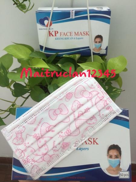 Khẩu trang người lớn hình Hellokitty mẫu mới KP FACE mask