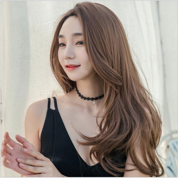 [TẶNG KÈM LƯỚI] Tóc giả nữ trùm nguyên đầu Hàn Quốc - TG873 ( MÀU NÂU VÀNG ) cao cấp
