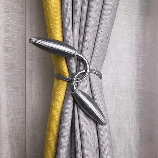 Bộ 2 dây buộc rèm cửa bằng kim loại uốn dẻo, đồ dùng gia đình, dây thắt buộc, đồ dùng tiện ích, (DBR02), Huy Linh