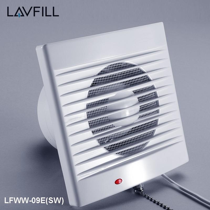 Quạt thông gió thiết kế rèm gắn tường có công tắc kéo LAVFILL LFWW-09E(SW), LFWW-11E (SW), LFWW-13E (SW)