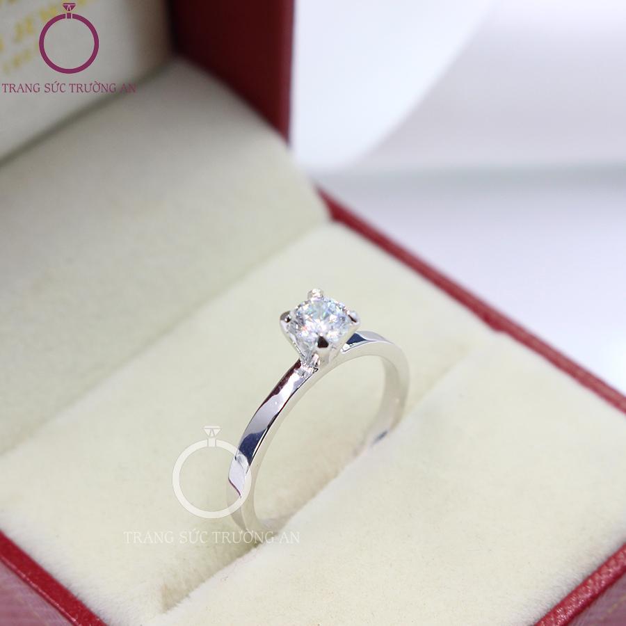 Nhẫn bạc nữ đẹp đính đá tinh tế NN0178 - Trang Sức Trường An