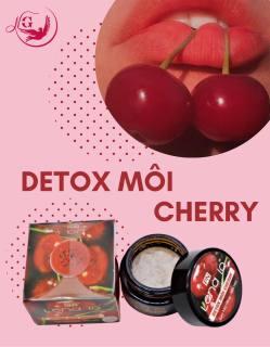 Detox thải chì môi LENA IQ tẩy tế bào chết làm môi hồng mịn môi căng mọng - Cherry thumbnail