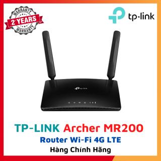 Bộ phát wifi 4G Archer MR200 Router Wi-Fi 4G LTE Băng Tần Kép AC750 2 ăng ten 4G LTE ngoài rời IEEE 802.11a n ac 5 GHz, IEEE 802.11b g n 2.4 GHz 3G 4G Router, Wireless Router Bảo hành 24 tháng thumbnail
