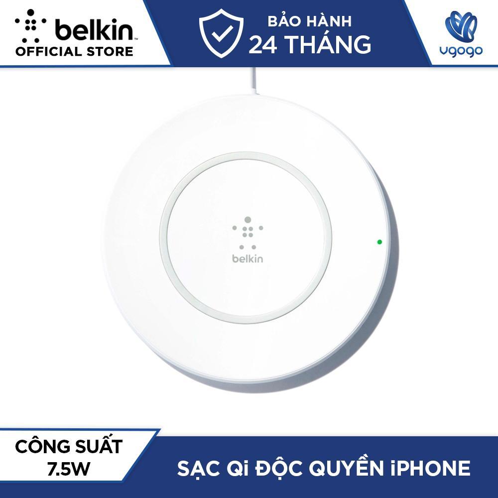Sạc Không Dây Cho iPhone X/8/8Plus Belkin BOOST↑UP™ Công Suất 7,5W Hỗ Trợ Sạc Nhanh Tương Thích Smartphone Sử Dụng Chuẩn Sạc Không Dây Qi - Nhà Phân Phối Chính Thức