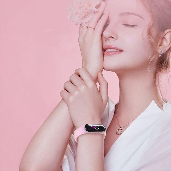 Nơi bán GUOPOKA Đơn giản Tính cách Quà tặng trang sức Phụ nữ Các cô gái Màn hình kỹ thuật số LED Đồng hồ đeo tay phong cách Hàn Quốc Đồng hồ điện tử phát sáng Đồng hồ kỹ thuật số dành cho trẻ em Vòng đeo tay chạy bộ